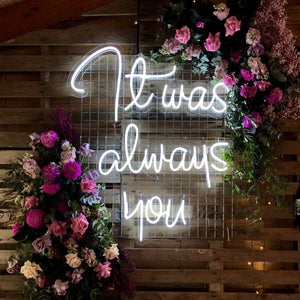 wedding neon sign