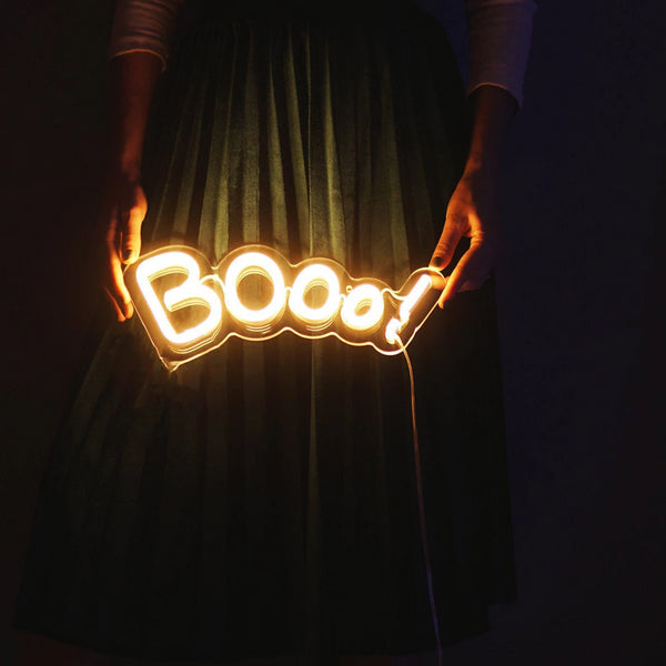 boo neon sign