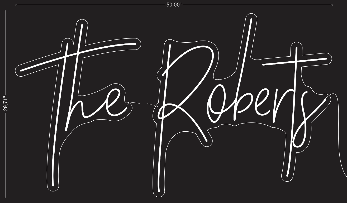 "Custom ""The Roberts"" Neon Sign"