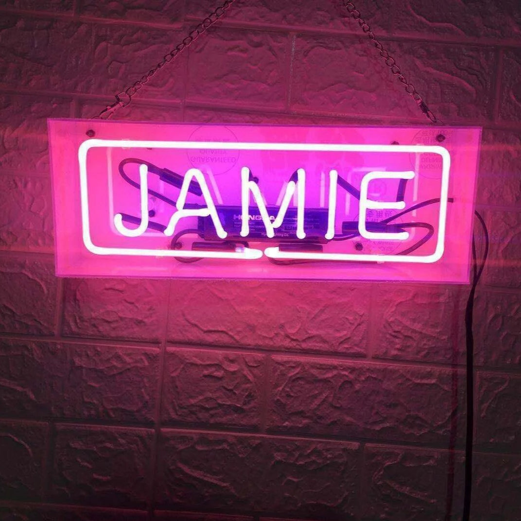 CUSTOM Neon Sign in Acrylic Box