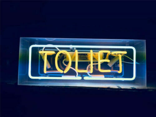 toilet box neon sign
