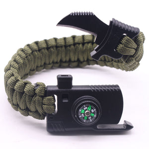 Braided Bracelet Men Multi-function Paracord Survival Bracelet