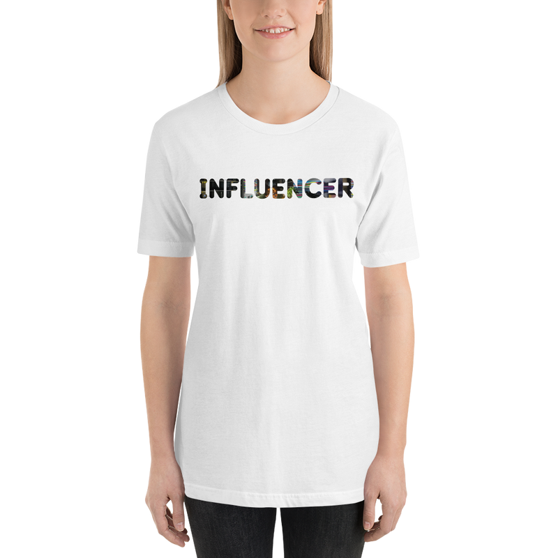 Influencer003 Bella + Canvas 3001 Unisex Short Sleeve Jersey T-Shirt with Tear Away Label