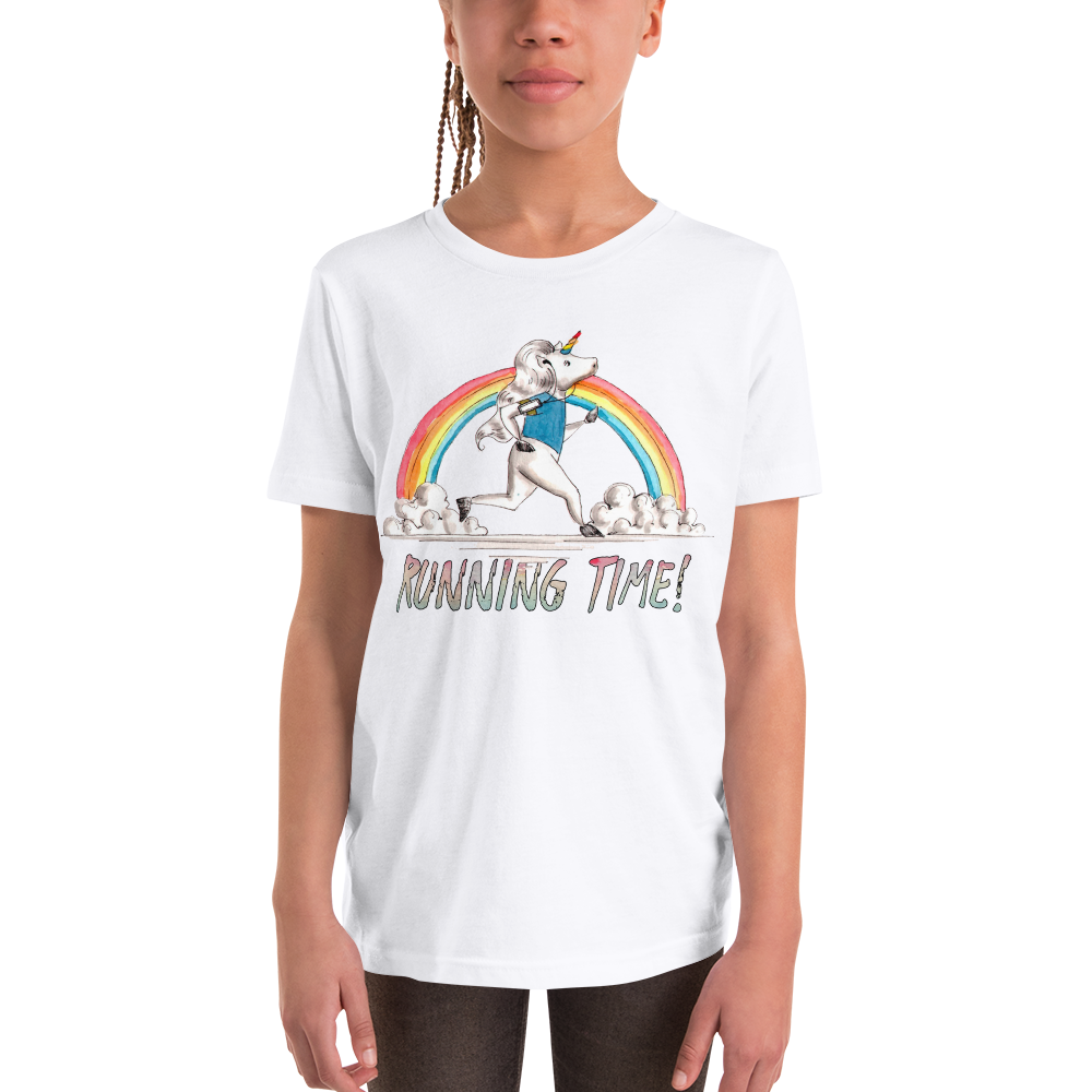 It's running time01 Youth Short Sleeve T-Shirt