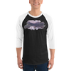 Explore The World002 3/4 SleevesTultex 245 Unisex Fine Jersey Raglan Tee w/ Tear Away Label