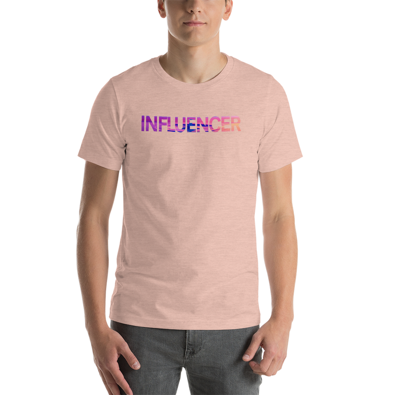 Influencer00168 Bella + Canvas 3001 Unisex Short Sleeve Jersey T-Shirt with Tear Away Label