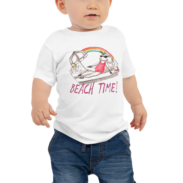 It's Beach Time03 Baby Jersey Short Sleeve Tee