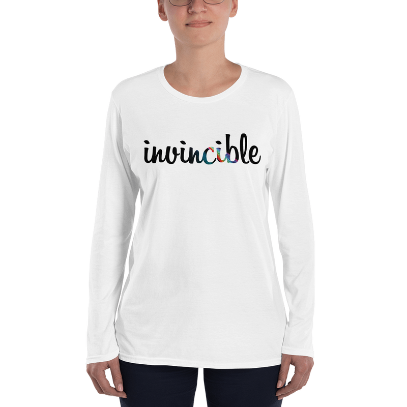 Invincible021 Anvil 884L Women's Lightweight Long Sleeve Tee with Tear Away Label