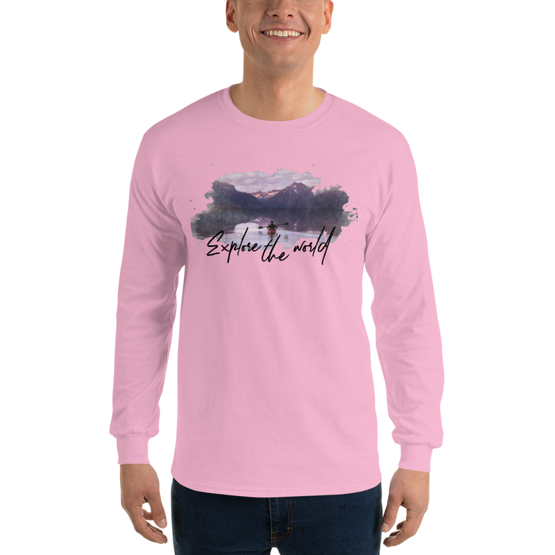 Explore The world002 Long Sleeve Gildan 2400 Ultra Cotton Long Sleeve T-Shirt