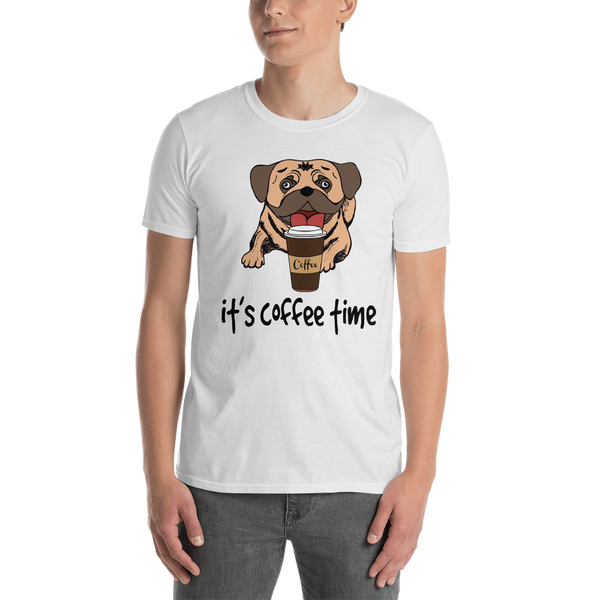It's coffee time020 Gildan 64000 Unisex Softstyle T-Shirt with Tear Away Label