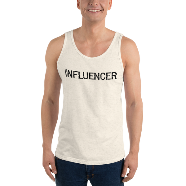 Influencer0182 Bella + Canvas 3480 Unisex Jersey Tank with Tear Away Label added