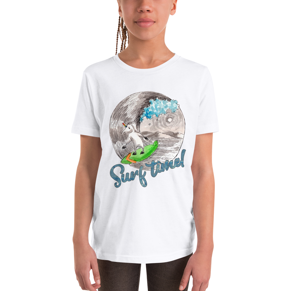 It's surfing time! 01 Youth Short Sleeve T-Shirt