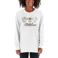 It's Yoga Time040 American Apparel 2007 Unisex Fine Jersey Long Sleeve T-Shirt Comfy style