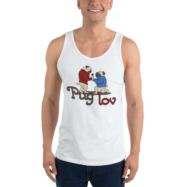 Pug love04 Bella + Canvas 3480 Unisex Jersey Tank with Tear Away Label