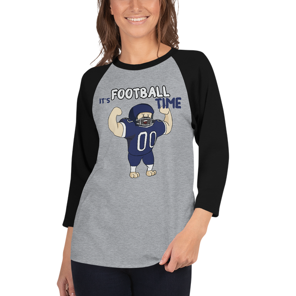 It's Football Time03 Tultex 245 Unisex Fine Jersey Raglan Tee w/ Tear Away Label