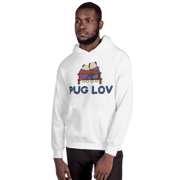 Pug Love12 Gildan 18500 Unisex Heavy Blend Hooded Sweatshirt