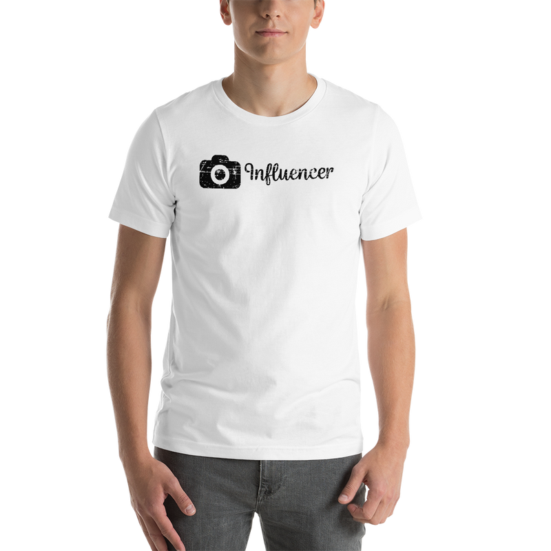 Influencer00157 Bella + Canvas 3001 Unisex Short Sleeve Jersey T-Shirt with Tear Away Label