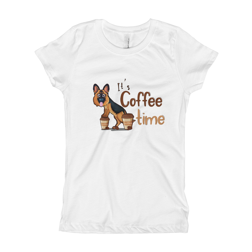 Its Coffee Time41 Girl's The Princess Tee with Tear Away Label