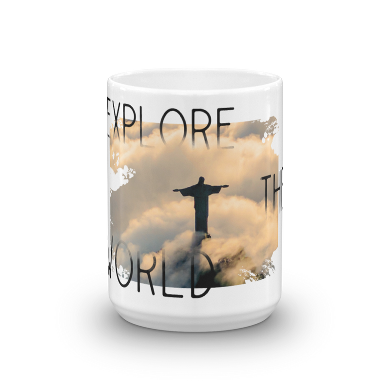 Explore The World0011 11OZ White Glossy Mug
