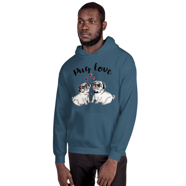 Pug Love01 Gildan 18500 Unisex Heavy Blend Hooded Sweatshirt