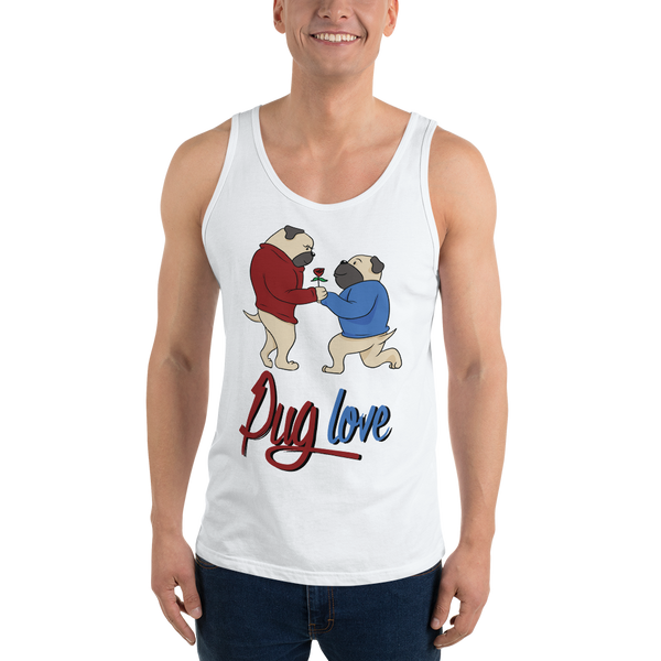 Pug love07 Bella + Canvas 3480 Unisex Jersey Tank with Tear Away Label