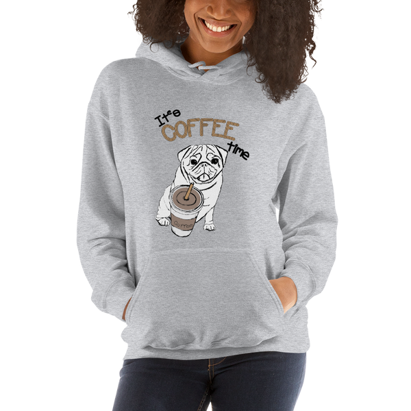 Its Coffee Time Hooded Sweatshirt