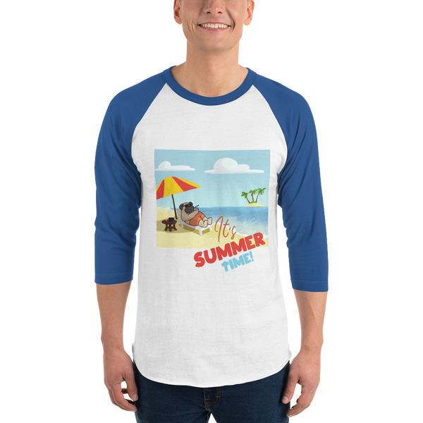 It's Summer Time20 Tultex 245 Unisex Fine Jersey Raglan Tee w/ Tear Away Label