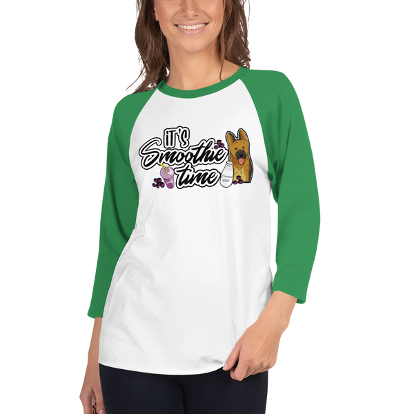 It's smoothie time04 Tultex 245 Unisex Fine Jersey Raglan Tee w/ Tear Away Label