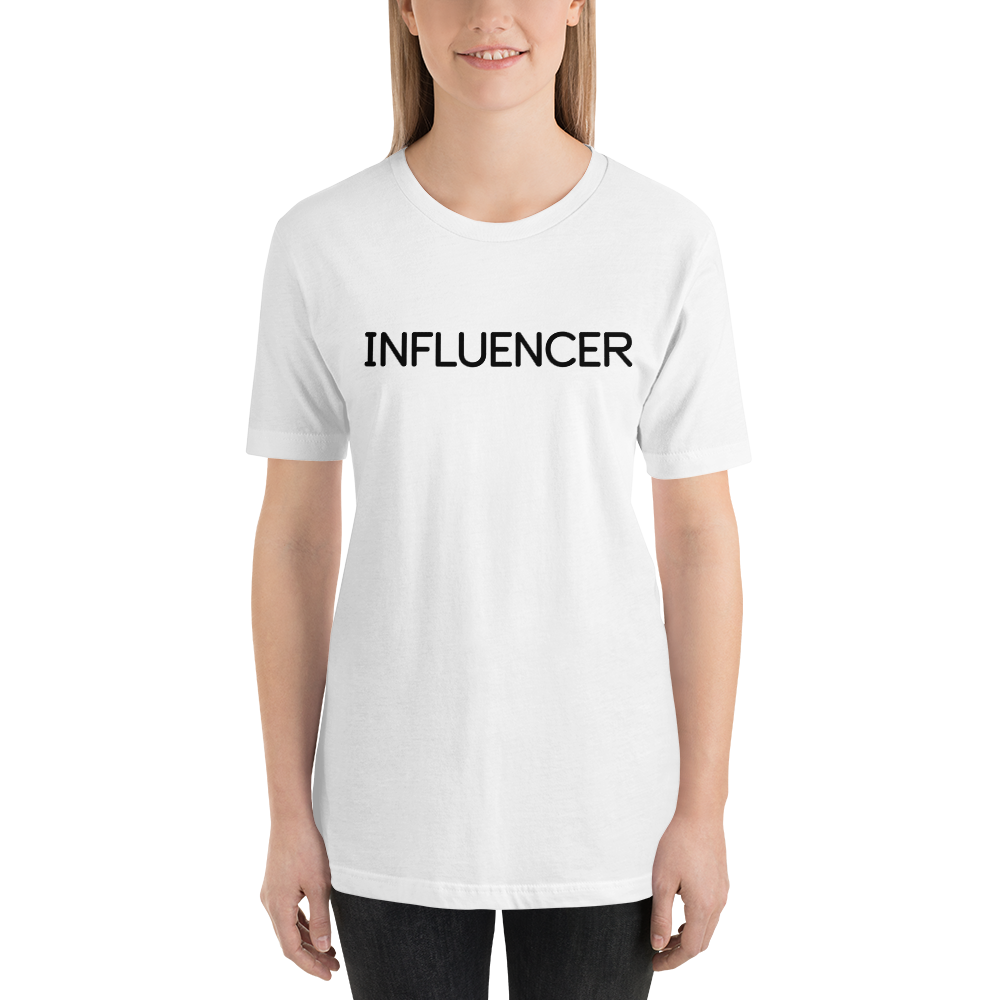 Influencer013 Bella + Canvas 3001 Unisex Short Sleeve Jersey T-Shirt with Tear Away Label