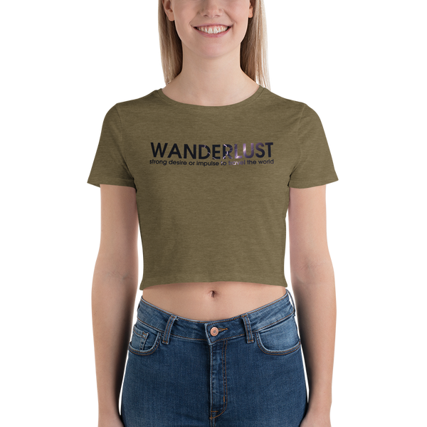 Wanderlust50 Bella + Canvas 6681 Women's Crop Tee Tight fit