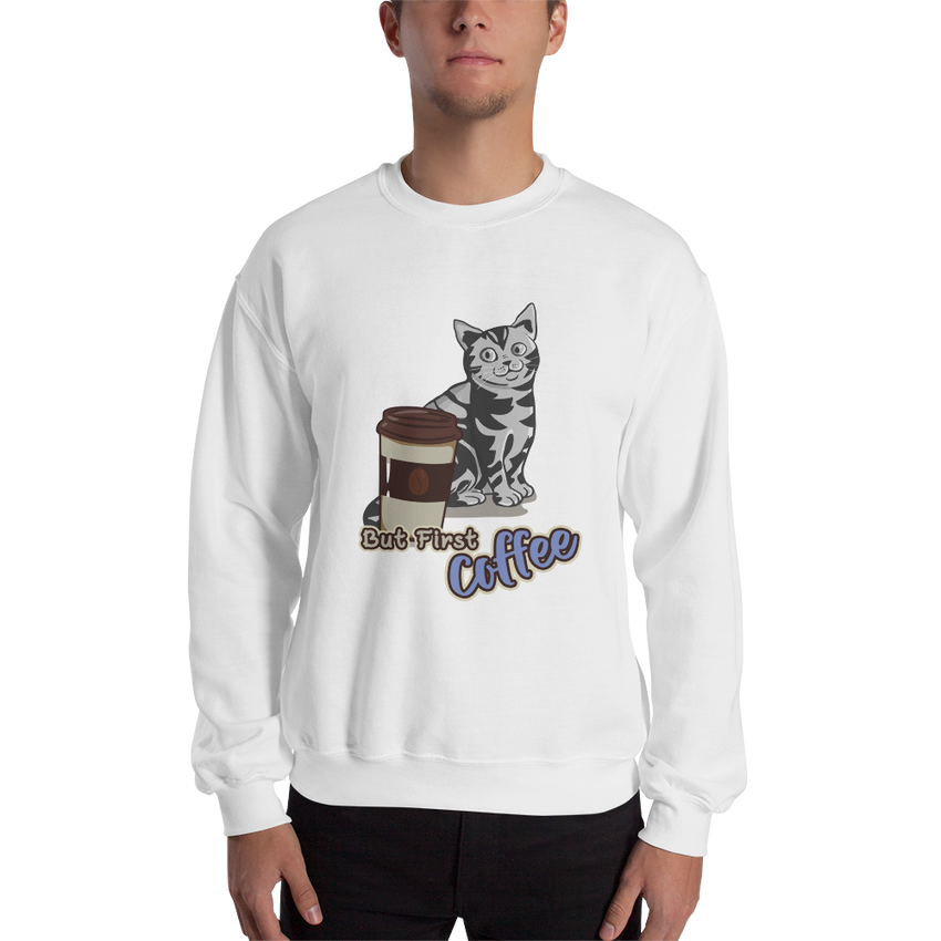 It's Coffee Time047 Gildan 18000 Unisex Heavy Blend Crewneck Sweatshirt