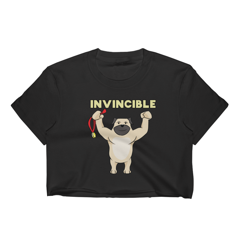 Invincible008 Los Angeles Apparel 2332 Fine Jersey Short Sleeve Cropped T-Shirt w/ Tear Away Label