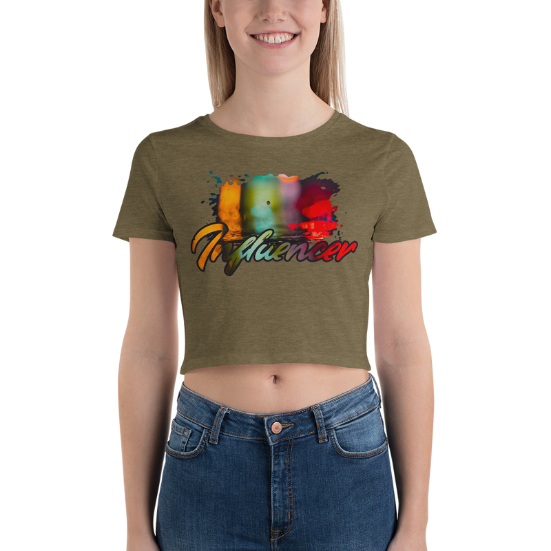 Influencer006 Bella + Canvas 6681 Women's Crop Tee with Tear Away Label