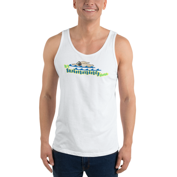 It's Swimming Time02 Bella + Canvas 3480 Unisex Jersey Tank with Tear Away Label