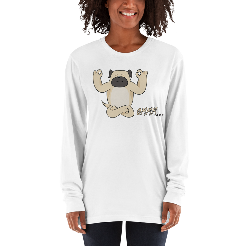 It's Yoga Time045 American Apparel 2007 Unisex Fine Jersey Long Sleeve T-Shirt Comfy style
