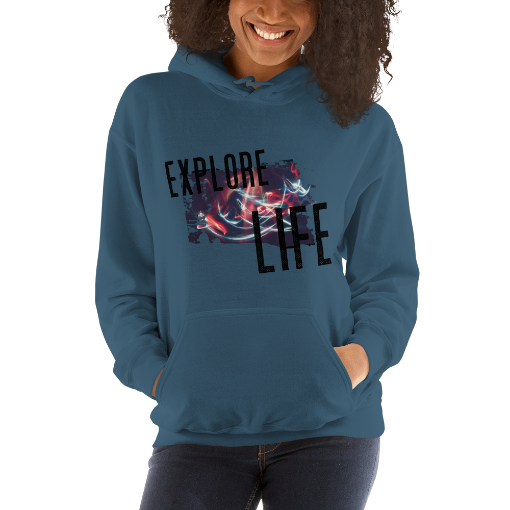 Explore Life002 Gildan 18500 Unisex Heavy Blend Hooded Sweatshirt