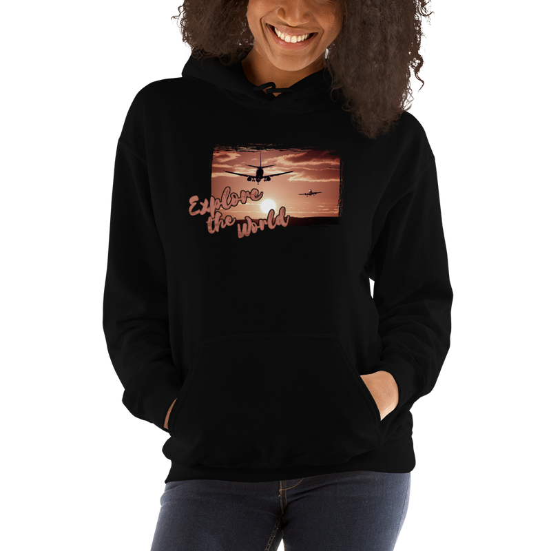 Explore The World0012  Gildan 18500 Unisex Heavy Blend Hooded Sweatshirt