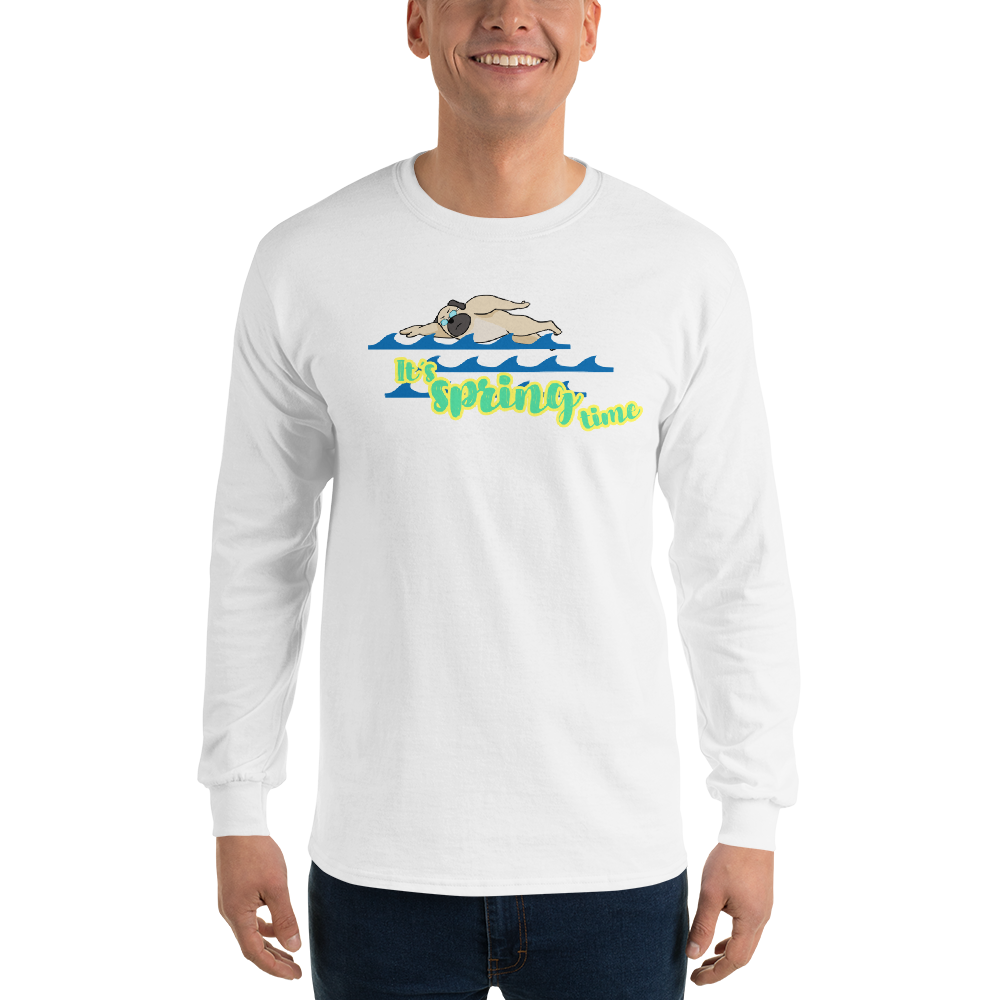 It's Swimming Time01 Gildan 2400 Ultra Cotton Long Sleeve T-Shirt