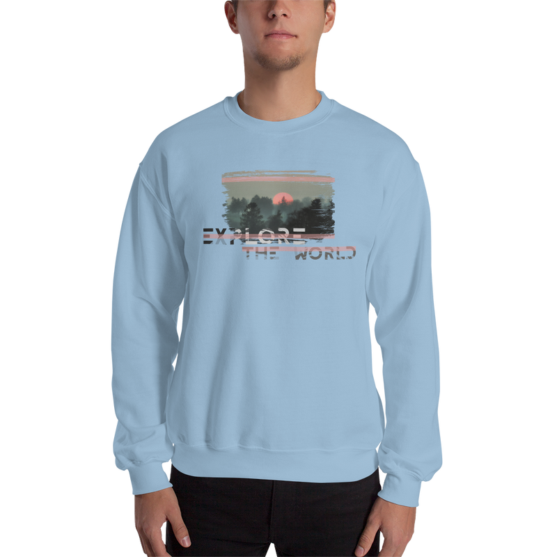 Explore The World0024 Sweatshirt Gildan 18000 Unisex Heavy Blend Crewneck Sweatshirt