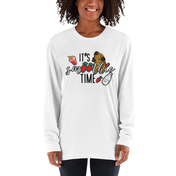 It's smoothie time06 American Apparel 2007 Unisex Fine Jersey Long Sleeve T-Shirt Comfy style