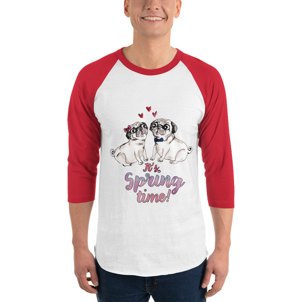 It's Spring Time16 Tultex 245 Unisex Fine Jersey Raglan Tee w/ Tear Away Label