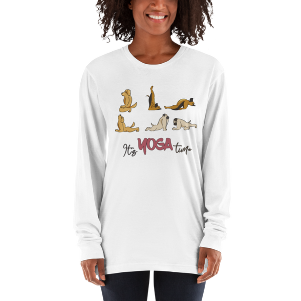 It's Yoga Time032 American Apparel 2007 Unisex Fine Jersey Long Sleeve T-Shirt Comfy style