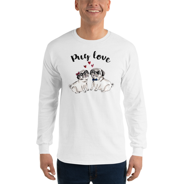 Pug Love01 Gildan 2400 Ultra Cotton Long Sleeve T-Shirt