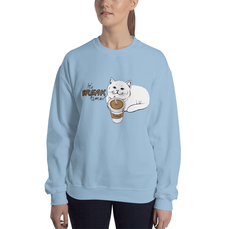 It's Break Time003 Gildan 18000 Unisex Heavy Blend Crewneck Sweatshirt