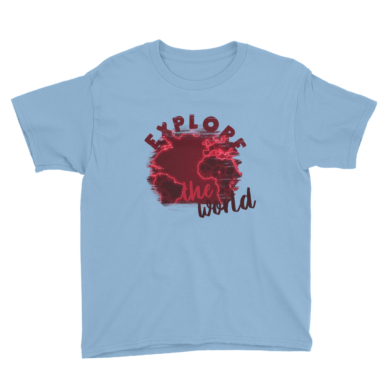Explore The World0016 Anvil 990B Youth Lightweight Fashion T-Shirt with Tear Away Label