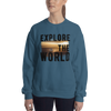 Explore The World009 Gildan 18000 Unisex Heavy Blend Crewneck Sweatshirt