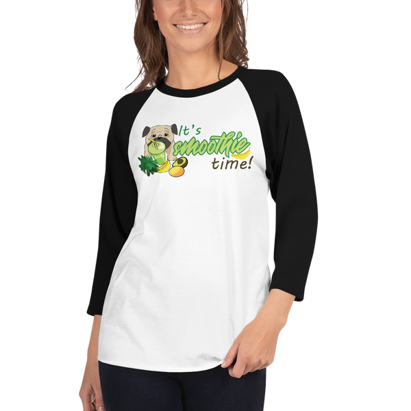 It's smoothie time10 Tultex 245 Unisex Fine Jersey Raglan Tee w/ Tear Away Label