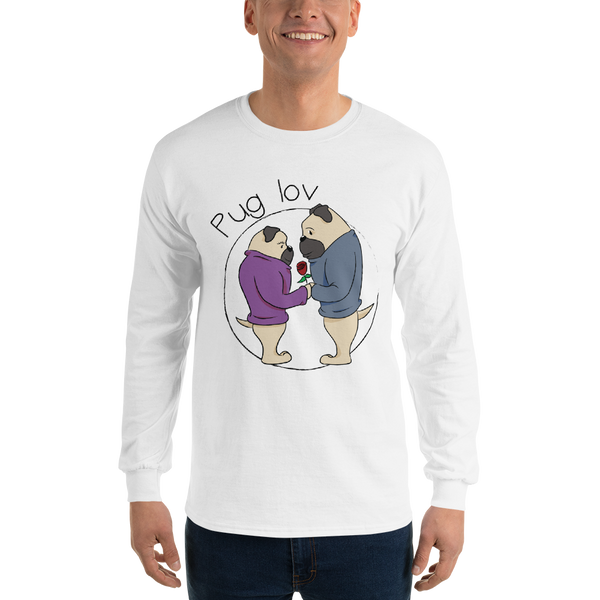 Pug Love06 Gildan 2400 Ultra Cotton Long Sleeve T-Shirt