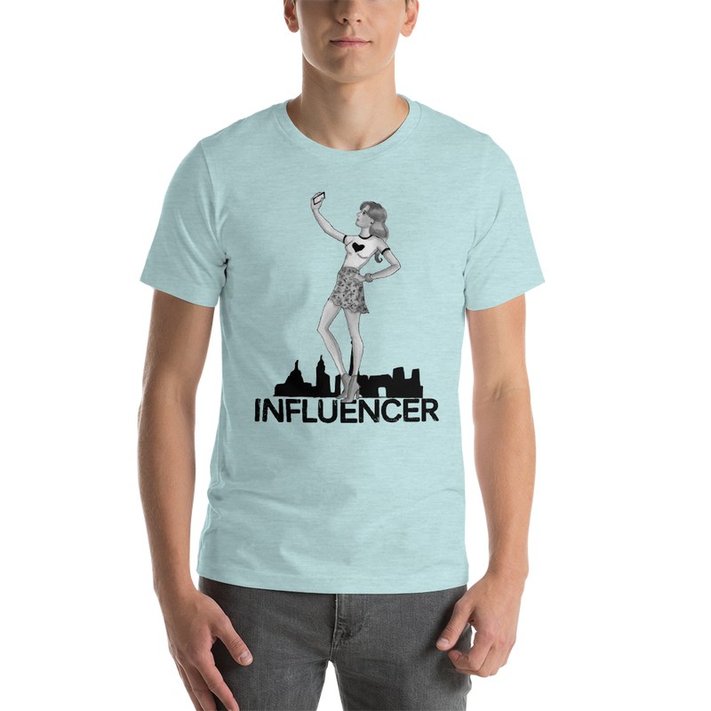 Influencer0034 Bella + Canvas 3001 Unisex Short Sleeve Jersey T-Shirt with Tear Away Label