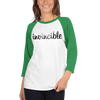 Invincible016 Tultex 245 Unisex Fine Jersey Raglan Tee w/ Tear Away Label